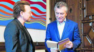 Junto a Bono en la Casa Rosada