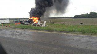La imagen del impactante choque que se registró esta mañana en la ruta provincial 91.