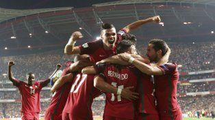Portugal festejó la clasificación a la Copa del Mundo.