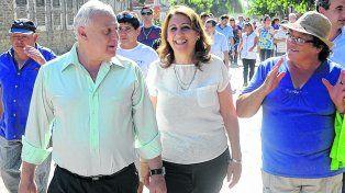 recorrida. El gobernador y la intendenta visitaron las obras.