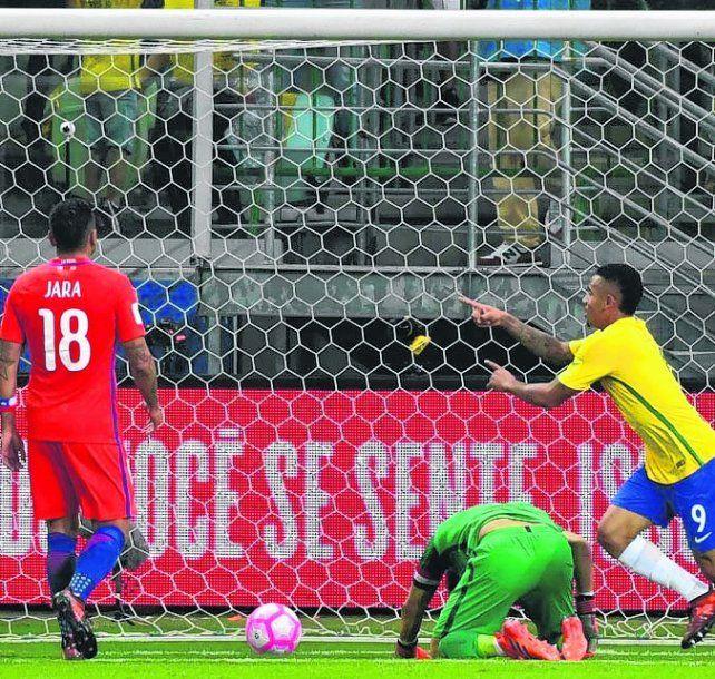 Dolor chileno. Brasil fue imparable. Lo sufren Bravo y Jara. La roja no irá a Rusia.