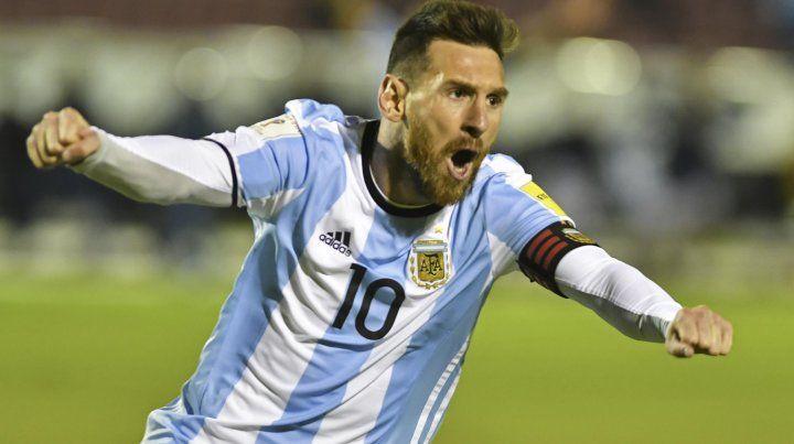Messi desplegó todo su juego y condujo al equipo hacia el triunfo.