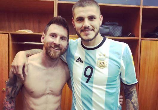 Mauro Icardi se rindió ante Messi y publicó una foto que refleja plena admiración