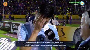 Sufrimos de verdad, no es cuento esto, se quebró Enzo Pérez que lloró ante la cámara