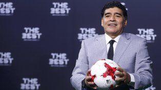 maradona celebro que la seleccion argentina sigue manteniendo el respeto del mundo