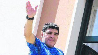 Diego Maradona siempre respalda a la albiceleste.
