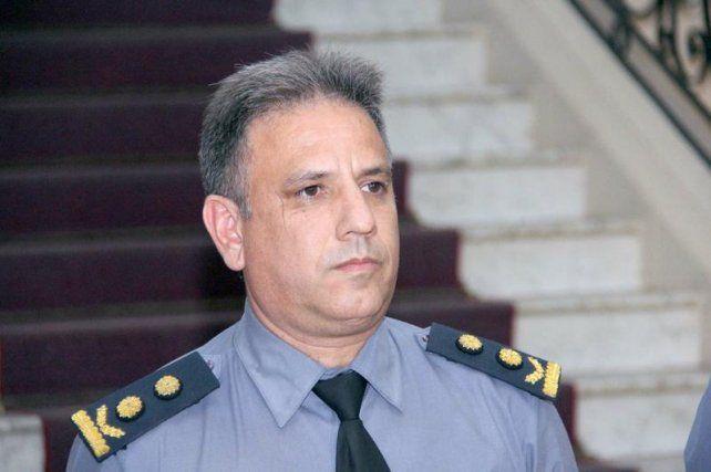 El comisario Adrián Rodríguez.<br>