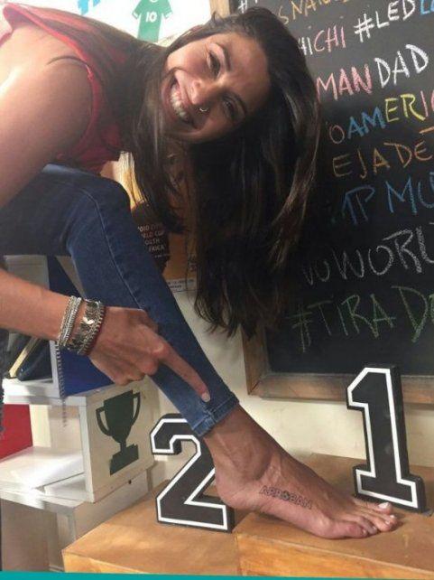 Ivana Nadal cumplió su promesa por la clasificación de la selección y se hizo un curioso tatuaje