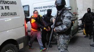 Guille Cantero en uno de los últimos traslados a Tribunales.
