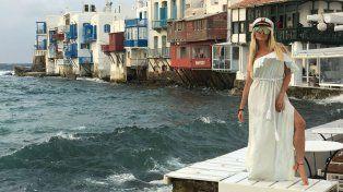 Las fotos calientes de Vicky Xipolitakis con su novio de viaje por las islas de Grecia