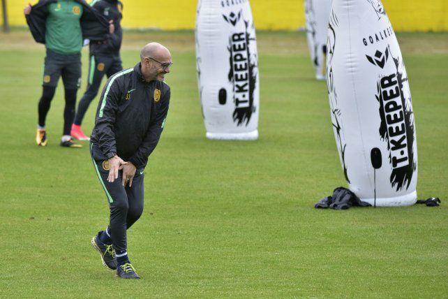 Montero sonríe en un entrenamiento. El director técnico tiene plena confianza en que saldrá adelante.