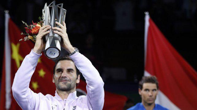 Federer venció a Rafa Nadal y se coronó campeón en el Masters de Shanghai