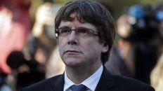 pensativo. Puigdemont ayer, durante el homenaje al fusilado presidente calatán Lluís Companys.