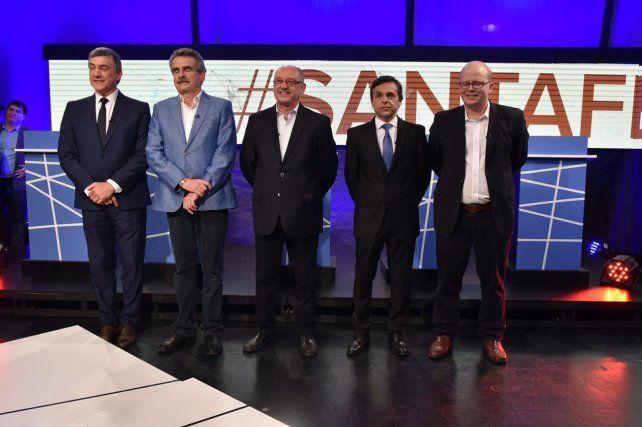 Tensión tras el corte. Contigiani y Cantard se cruzaron luego del debate televisivo.