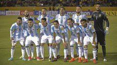 La imagen del seleccionado nacional en la previa del triunfo frente a Ecuador que le dio la clasificación al Mundial.