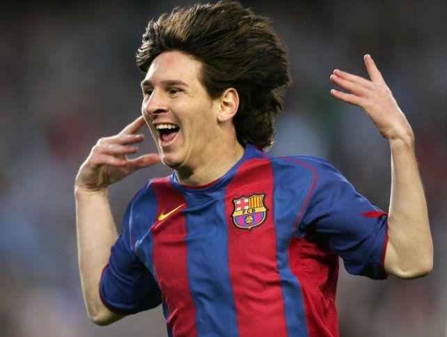 Lio Messi gritó su primer gol con Barcelona