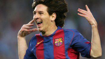 Lio Messi gritó su primer gol con Barcelona, ante Albacete, en 2005, cuando todavía no había cumplido 18 años.