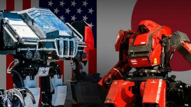 Dos robots gigantes se enfrentan en un megacombate que miles de fans seguirán por internet