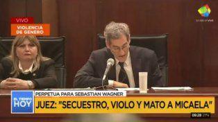 Los jueces consideran en la sentencia final que Wagner violó y mató a Micaela García