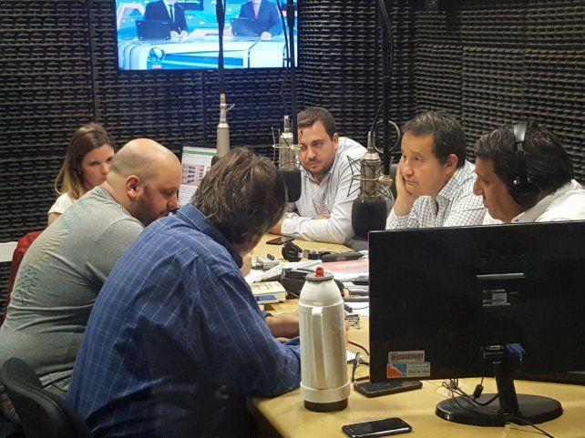 La imagen de los candidatos en el estudio de LT8.