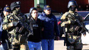 Ramón Machuca, Monchi, al ser apresado por la Policía Federal.