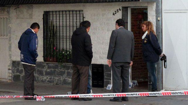 El lugar donde mataron al comerciante Perrone. Martínez actuó como campana.