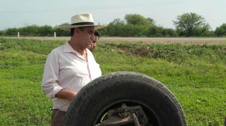 El Chaqueño Palavecino ayudó a las víctimas de un accidente en la ruta 34