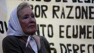 La referente de la Línea Fundadora de Madres de Plaza de Mayo, Nora Cortiñas.