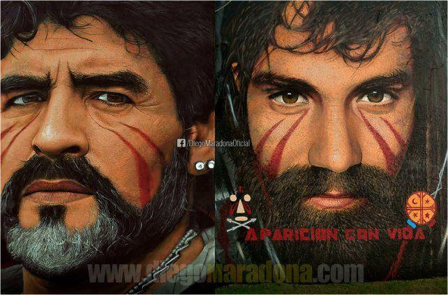 Maradona dijo que hay que hacer una manifestación increíble para pedir por Santiago Maldonado.