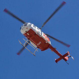 Helicóptero sanitario realizó ejercicios para definir zonas aptas de descenso ante emergencias