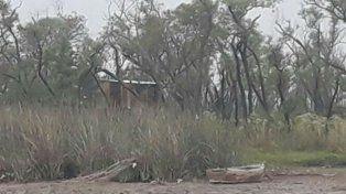 La zona de islas donde encontraron los restos de la víctima.
