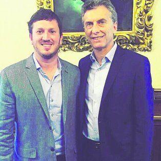 referente. El titular del PRO Santa Fe, junto al presidente de la Nación.