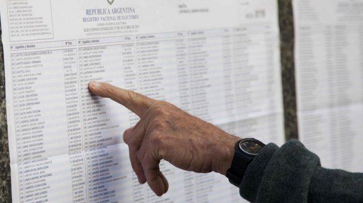Consultá el padrón electoral para saber dónde votás en las elecciones
