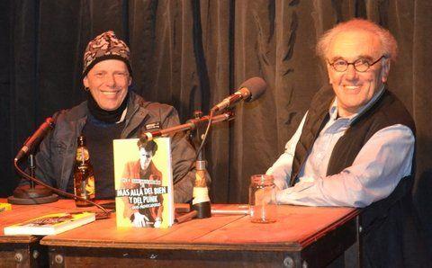 Dupla brava. Pil Trafa y Kreimer durante la presentación del libro en Rosario.