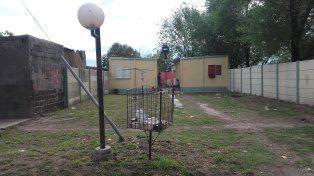 La casa de la calle 26 al 40, en Las Parejas. Allí fue asesinada el viernes Aymara Jesún Zehnder.