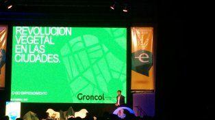 Innovación. En Endeavor presentaron el caso de Groncol, empresa colombiana que construye muros y techos verdes.