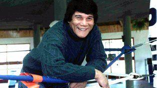 El gran campeón. Monzón, el célebre boxeador santafesino.