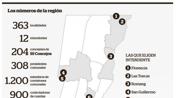 Doce ciudades eligen intendente a lo largo del territorio santafesino