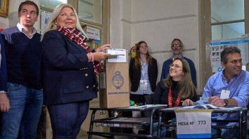 carrio tomo un cafe con el presidente, voto y dijo que reza por santiago maldonado