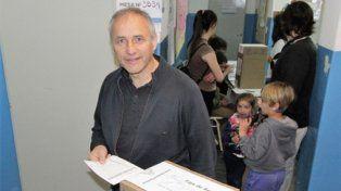 fiesta. Héctor Baldassi, en Salsipuedes. Logró el 48,43% de los votos.