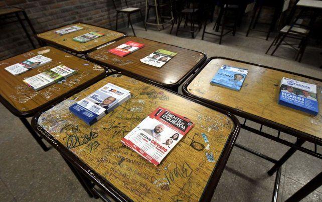 Diez boletas para elegir diputados nacionales por Santa Fe.