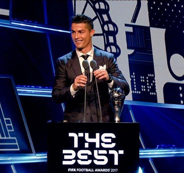 Cristiano Ronaldo se quedó con el premio The Best por segundo año consecutivo