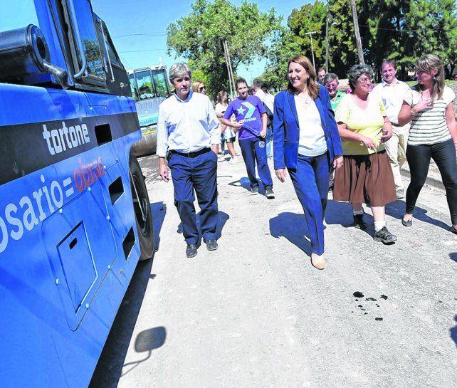 mejorando condiciones. La intendenta Fein recorrió las tareas terminadas hace unos días en Arroyito Oeste.