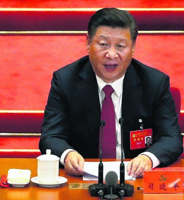 En la cima. El presidente chino