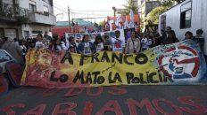reclamo. La familia y la Multisectorial contra la Violencia Institucional piden justicia por el crimen de Franco Casco.