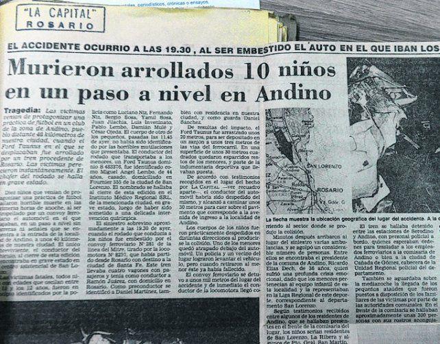 En el mismo lugar. Este diario reflejó el choque ocurrido en 1992.