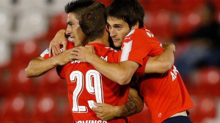 Marea roja. Se impuso 4 a 1 como visitante en la ida con goles de Meza