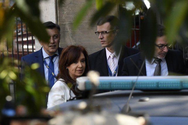 La expresidenta Cristina Fernández de Kirchner