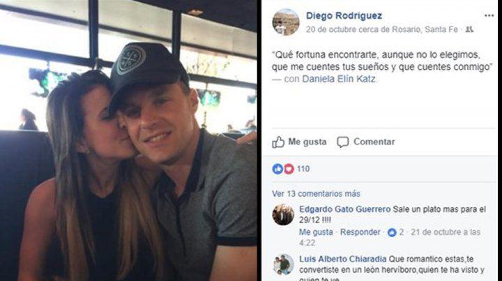 La romántica frase del Ruso Rodríguez para blanquear su relación con una sexy periodista deportiva