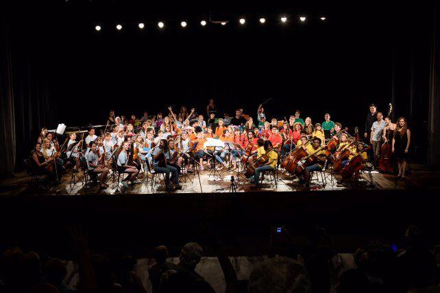 La celebración de la Orquesta de Niños y Adolescentes de LaMutual de la Asociación Médica